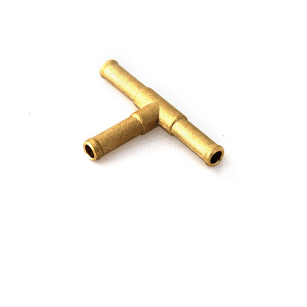 LPG Gas Hose T Connector 6x6x6mm Brass