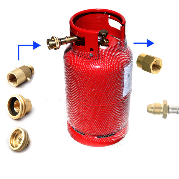 27kg gas lpg refillable bottle cylinder all europe adapters calor POL output