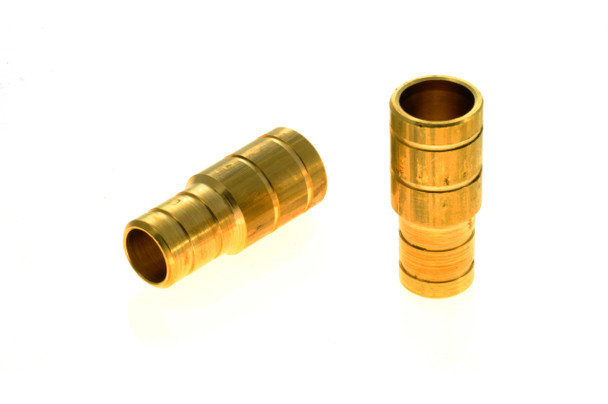 16mm to 19mm brass hose coupling