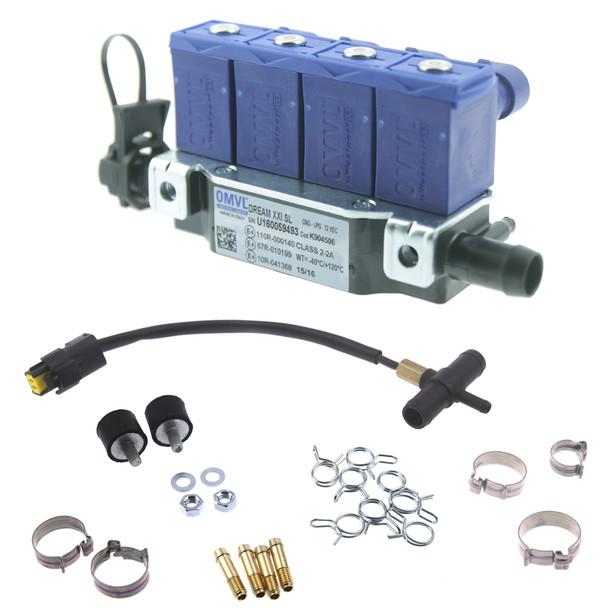 OMVL SL Dream XXI blue autogas lpg injectors rail with temperature sensor