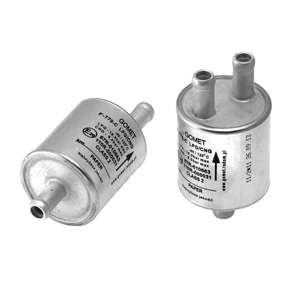 Autogas LPG Filter Y: Inlet 1x11mm Outlet 2x11mm