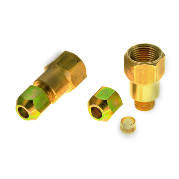 JIC 3/4UNF to 8mm Pipe Reduction with Olive and Nut