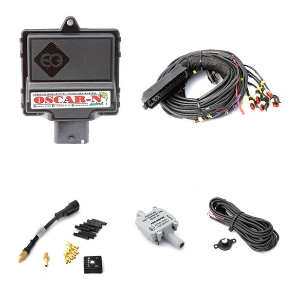 "Europegas LPG/CNG injection controller ""OSCAR-N MINI SAS"" in 4 cylinder version,"