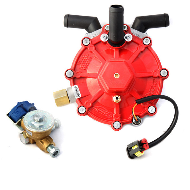 AC STAG R01 250HP RED (186kW) Reducer (Vaporizer) with 8mm Electrovalve for Turbocharged Engines