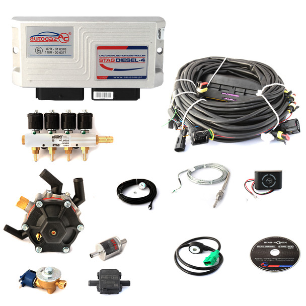 AC STAG Diesel LPG Controller Autogas for Diesel Engines full front kit probes reducer injectors ecu