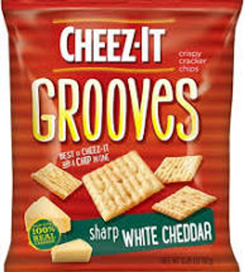 Cheez It Grooves Sharp White Cheddar