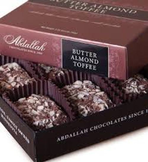 Abdallah Butter Almond Toffee 3.25 ounce