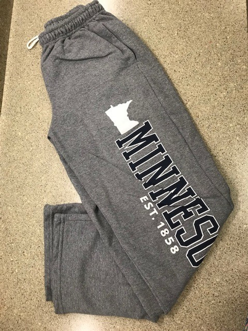 Minnesota  Jog Pants  Gray (Small) *