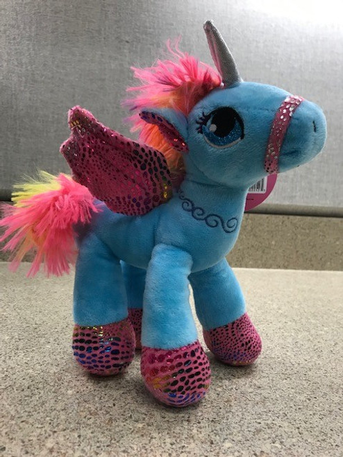 Blue Unicorn with Pink wings and Hooves (Kelli's)