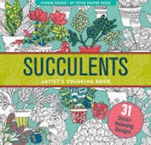 Succulents Artist's Coloring Book (Peter Pauper)