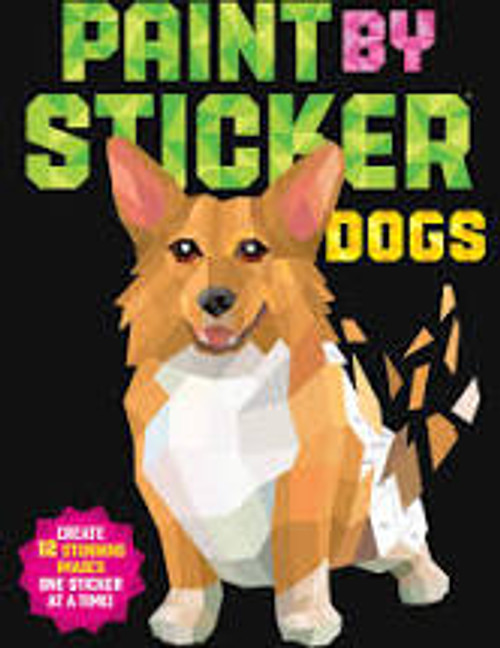 Adult Paint by Sticker Dogs Book