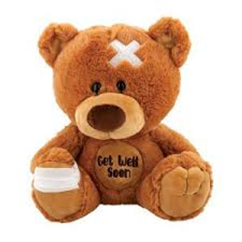 "Fiesta 10"" Get Well Soon Teddy Bear"