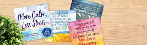 More Calm Less Stress, Daily Affirmation for Inspiring Serenity Cards for Inner Peace
