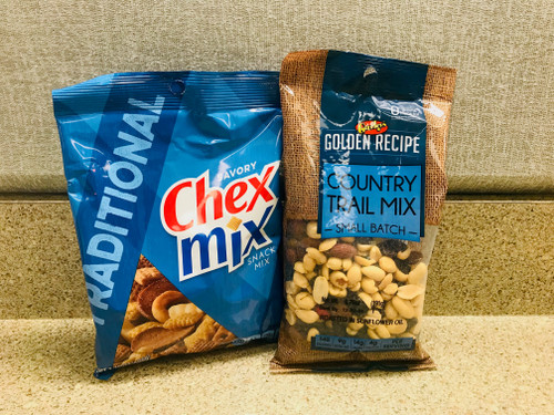 Chex mix and Trail mix combo