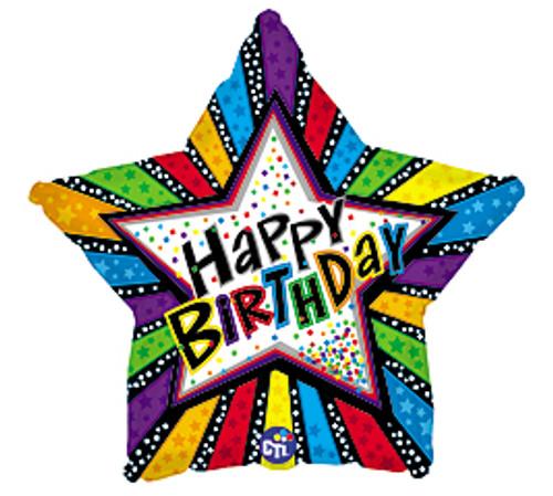 Happy Birthday Balloon (Assorted)