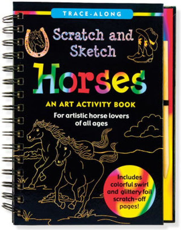 Horses Scratch and Sketch Activity Book