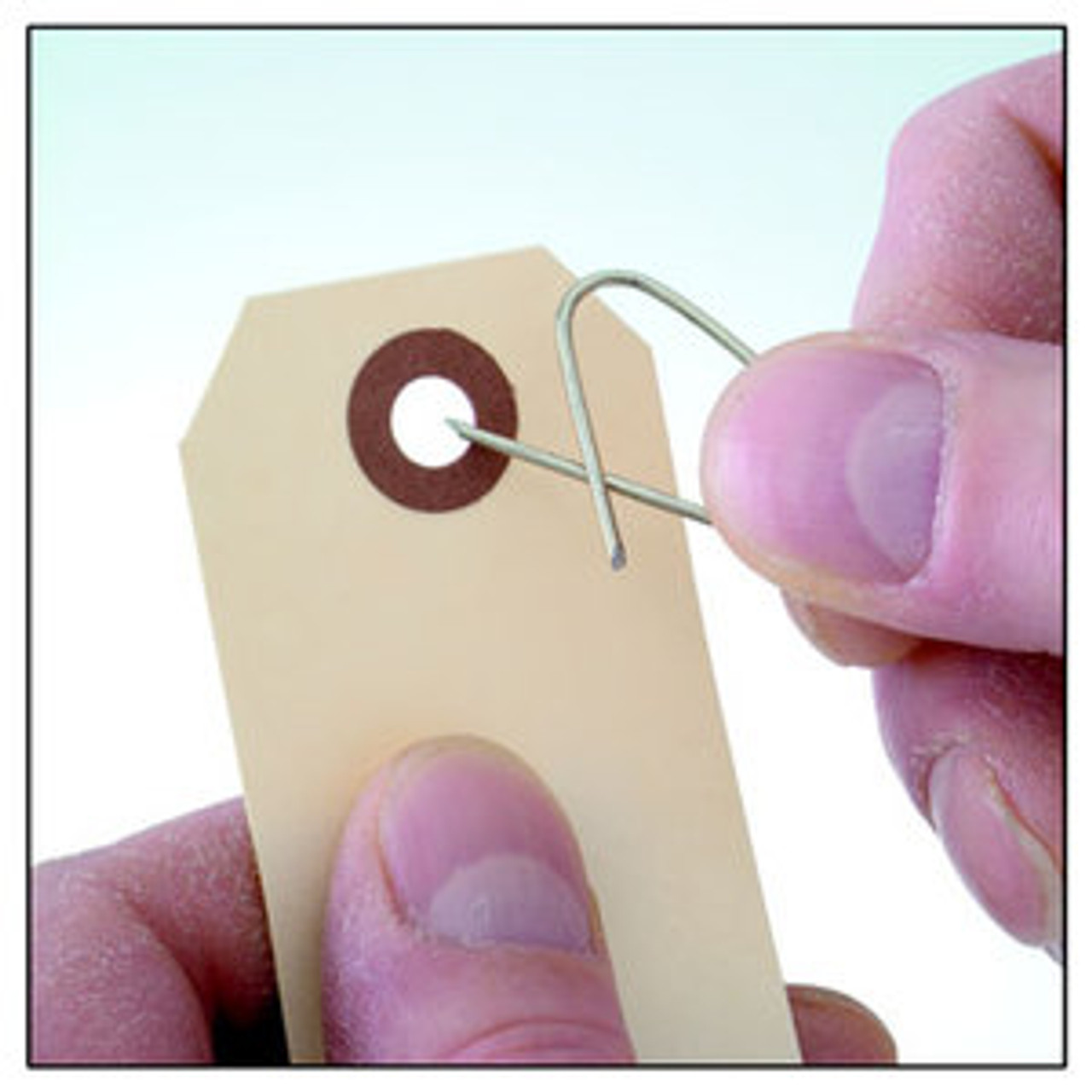 """#17 Oval Meat Deadlock Tag Fasteners Style """"A"""", 1,000 Per Box."""