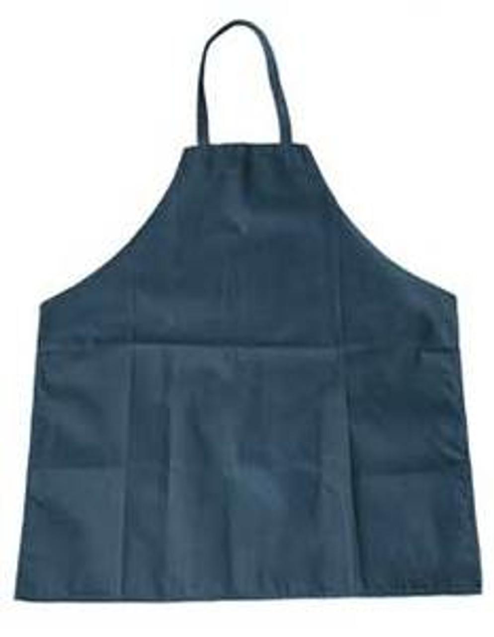 Navy Blue Cotton Apron / Bib, 7 oz