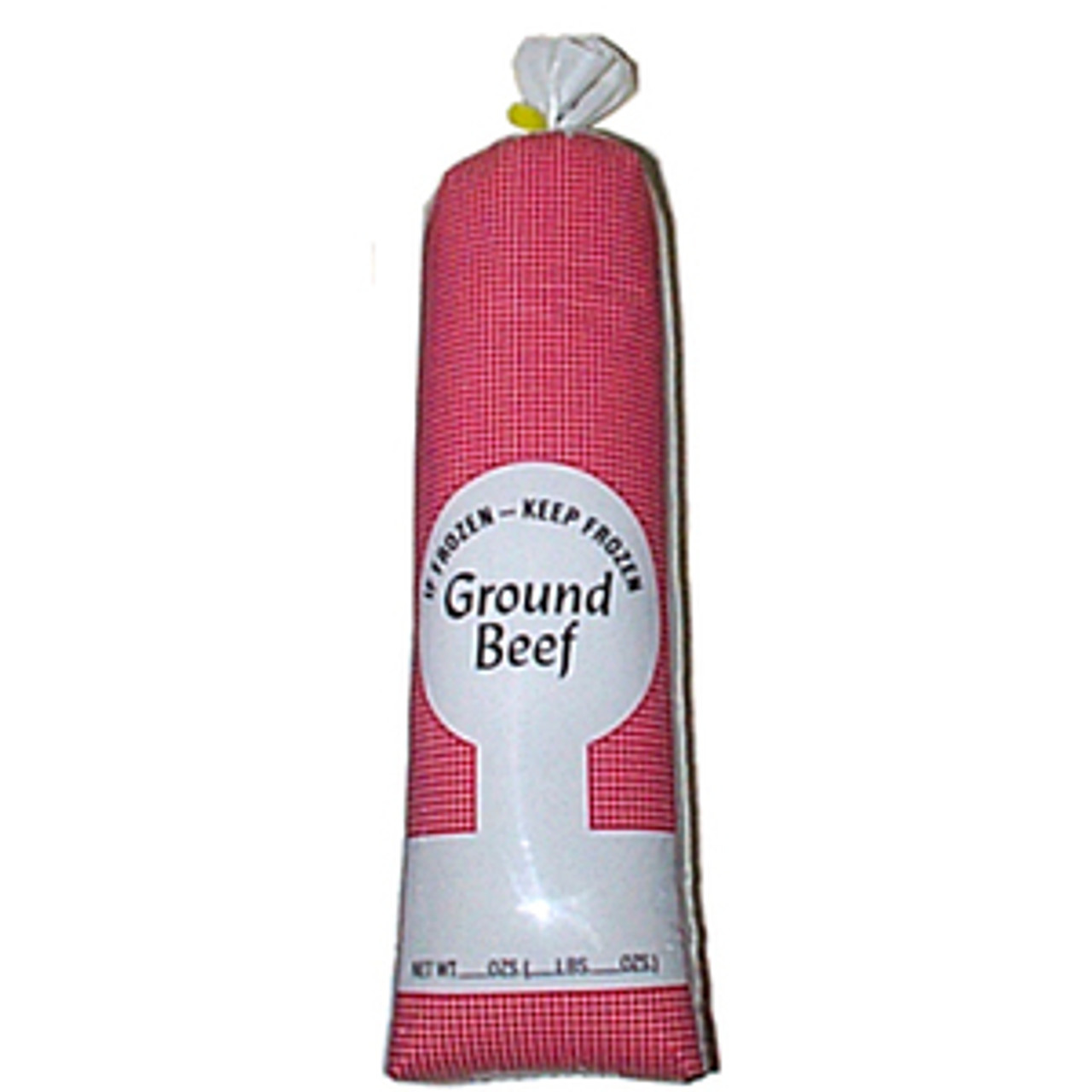 1 LB Ground Beef White Poly Bags 100 Count.