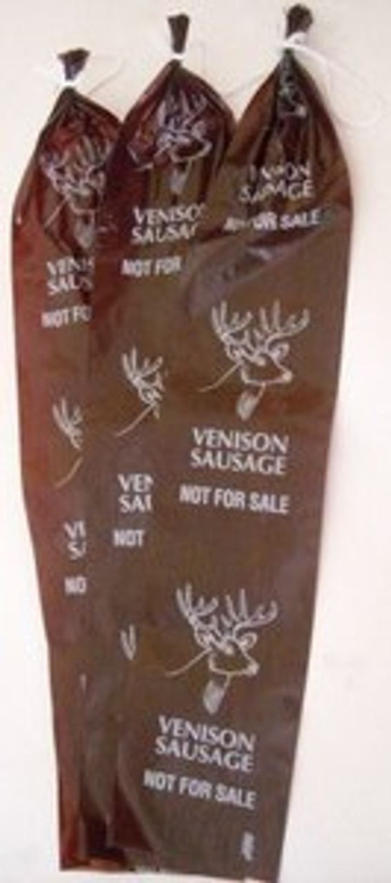 "2.5"" x 20"" Mahogany Fibrous, Non Edible Venison Summer Sausage Casings ''Not For Sale"""