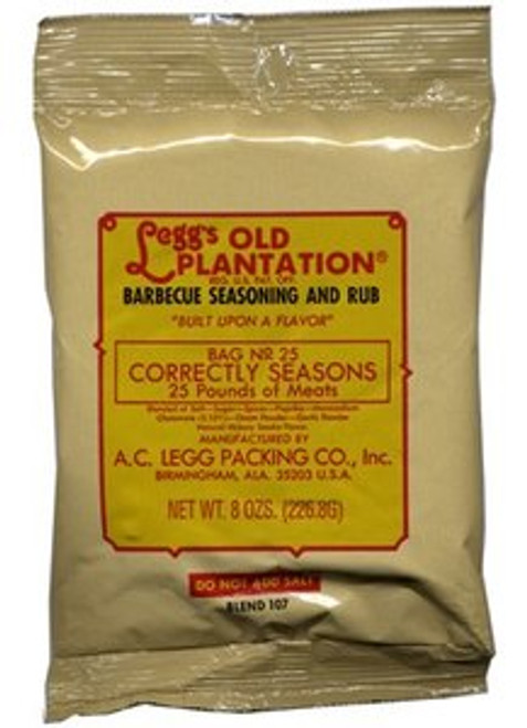 Blend # 107 - Legg's Old Plantation BBQ Seasoning & Rub 8 oz. Bag