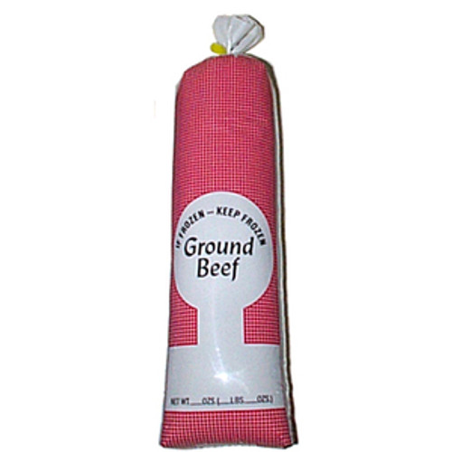 """1 lb Ground Beef White Poly Meat Bags """"Not for Sale"""" 100 Count."""