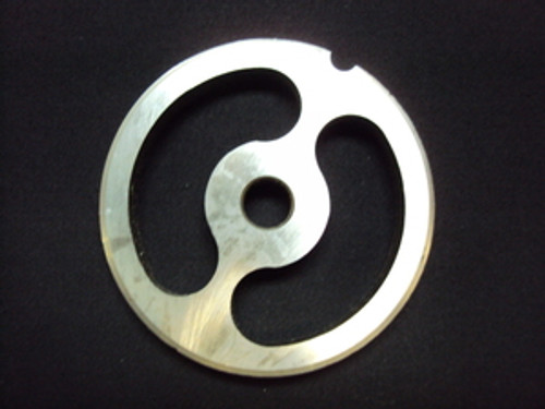 # 12 x 2 Hole Kidney Reversible Grinder Plate - Stainless