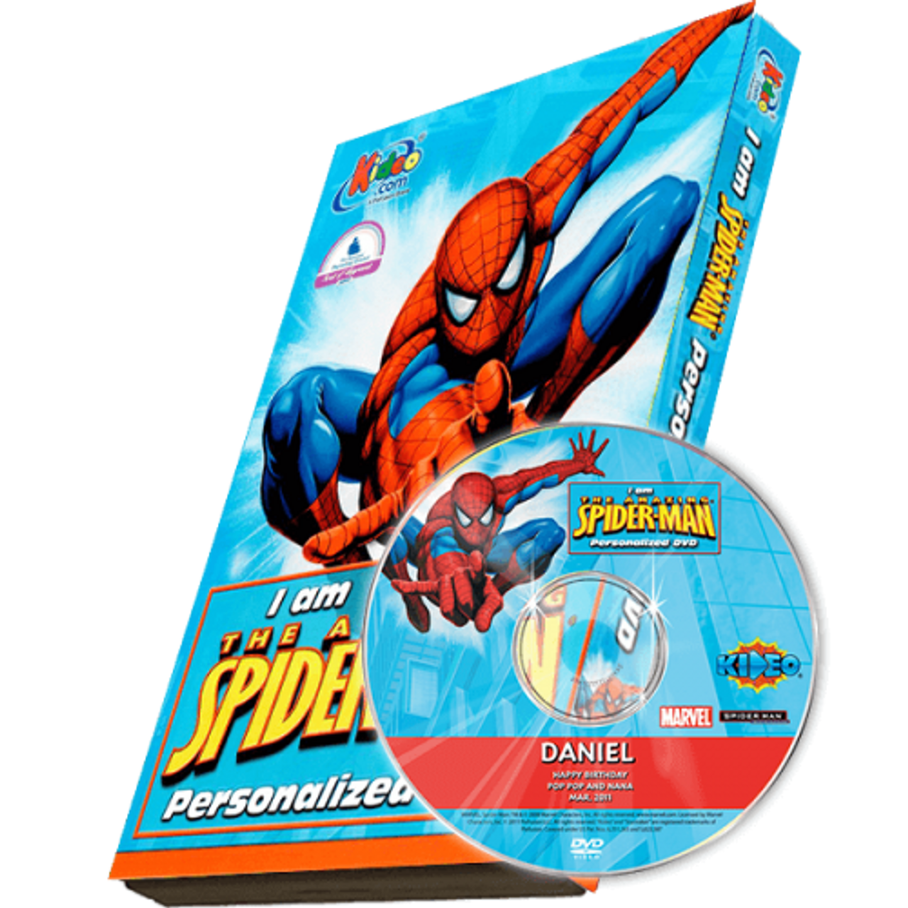 I Am The Amazing Spiderman Photo Personalized Dvd For Kids