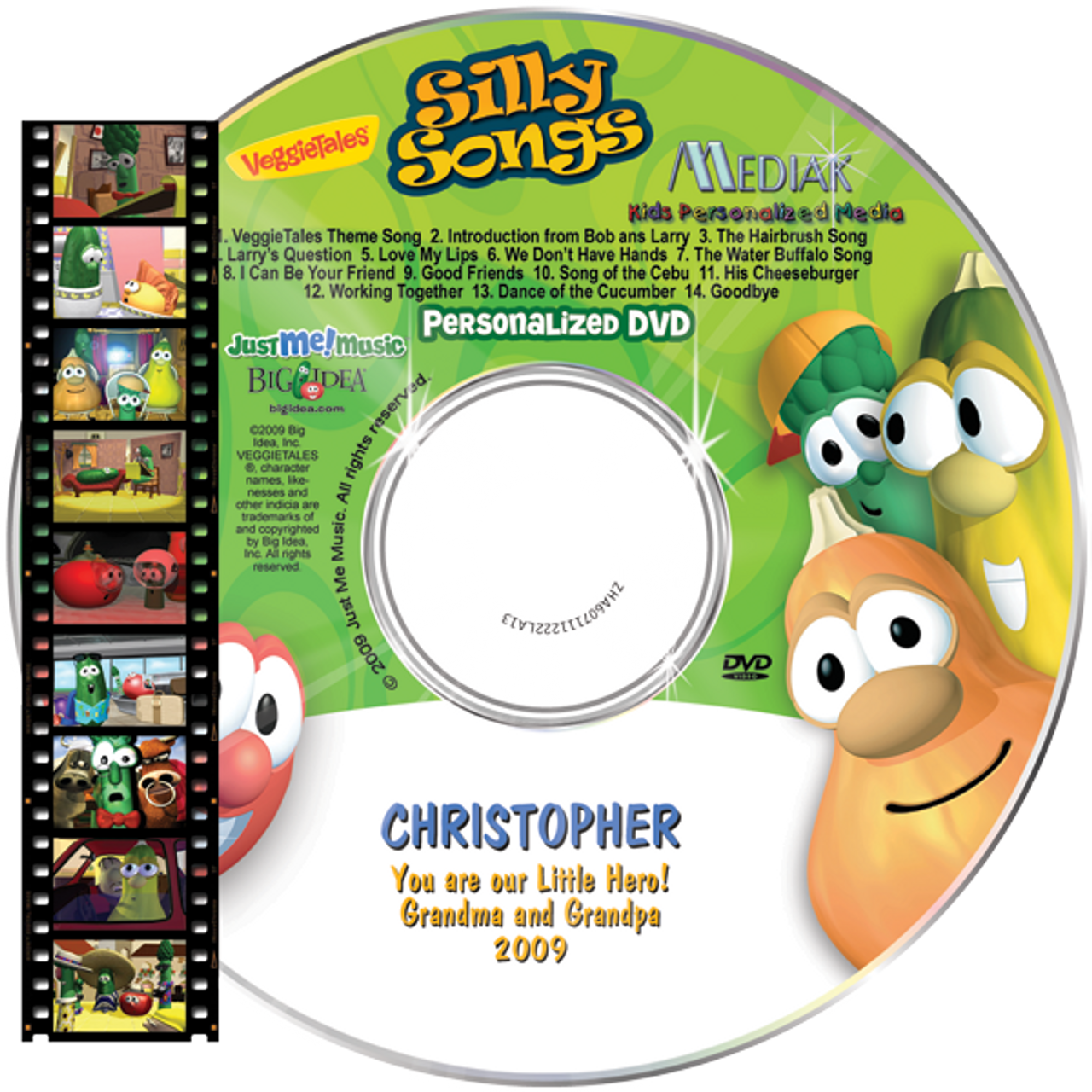 Personalized Veggie Tales Silly Songs Dvd For Kids Personally Yours Books