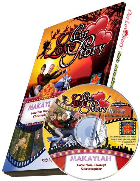 Our Love Story Photo Personalized DVD