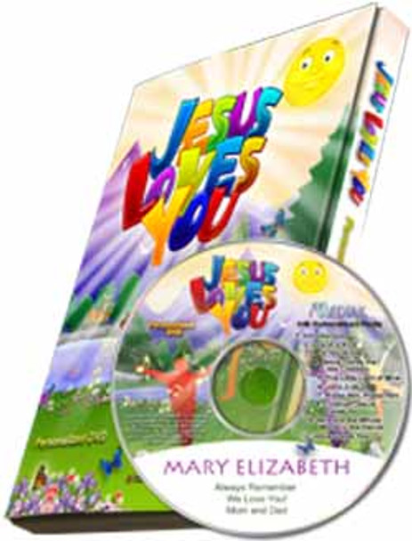 Jesus Loves You Personalized Kids Music DVD
