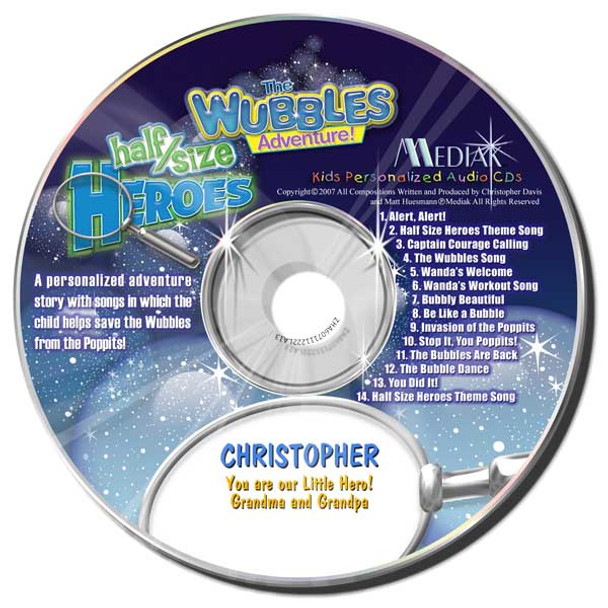 The Wubbles Adventure Personalized Kids Music CD