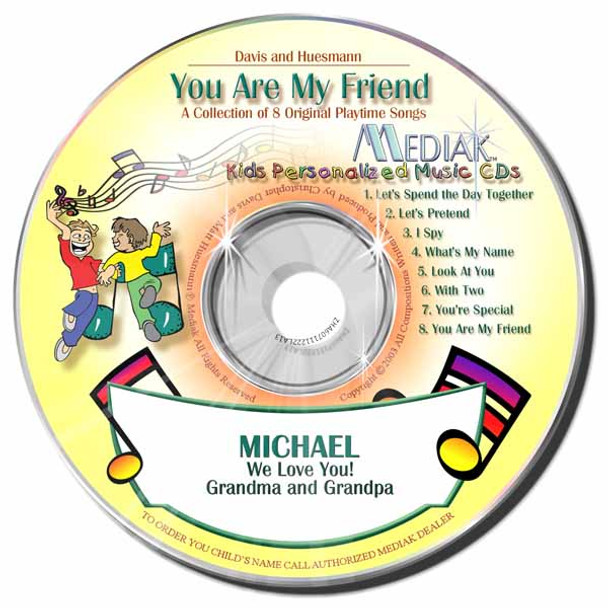 You Are My Friend Personalized Kids Music CD