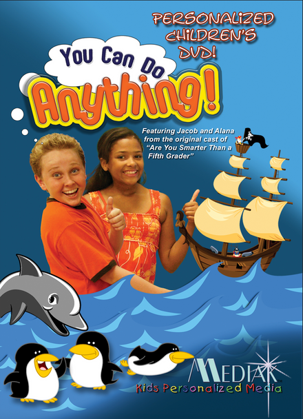 You Can Do Anything Personalized Kids Music DVD/MP3