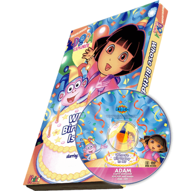 Dora - Whose Birthday Is It? Photo Personalized DVD/MP3