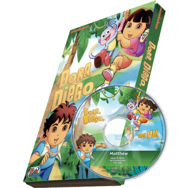Dora, Diego and Me Photo Personalized DVD/MP3