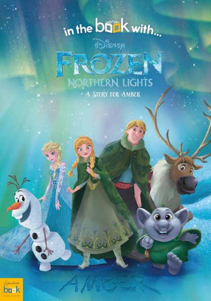 Personalized Disney Frozen Northern Lights Story Book