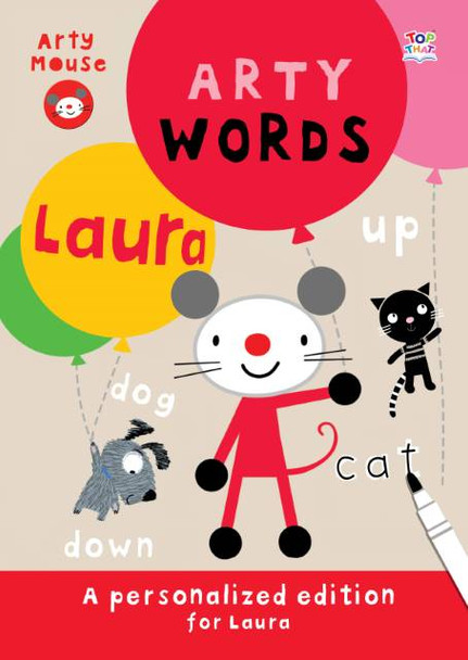 Personalized Arty Mouse Learning Words Activity Book