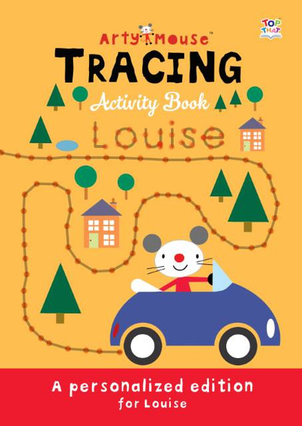 Personalized Arty Mouse Tracing Activity Book