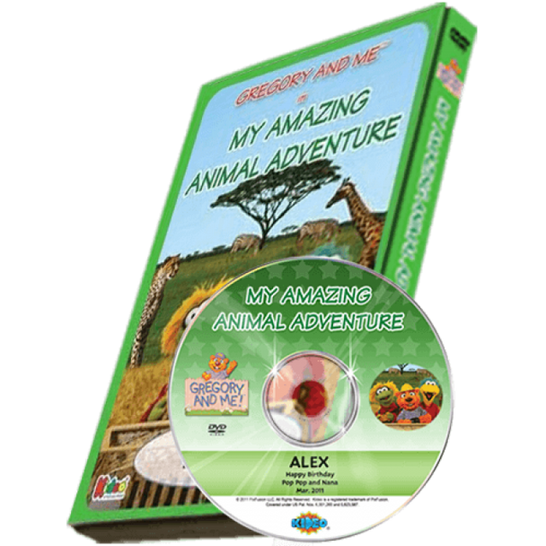 Amazing Animal Adventure Personalized DVD for Kids