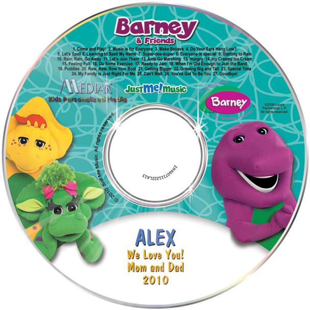 Personalized Kids Music CD Barney & Friends