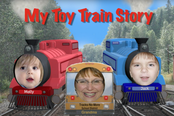My Toy Train Photo Personalized DVD