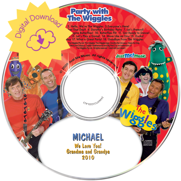 Personalized Kids Digital Download Party with the Wiggles