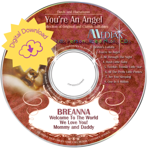 Personalized Lullaby Album for New Baby -  You're An Angel