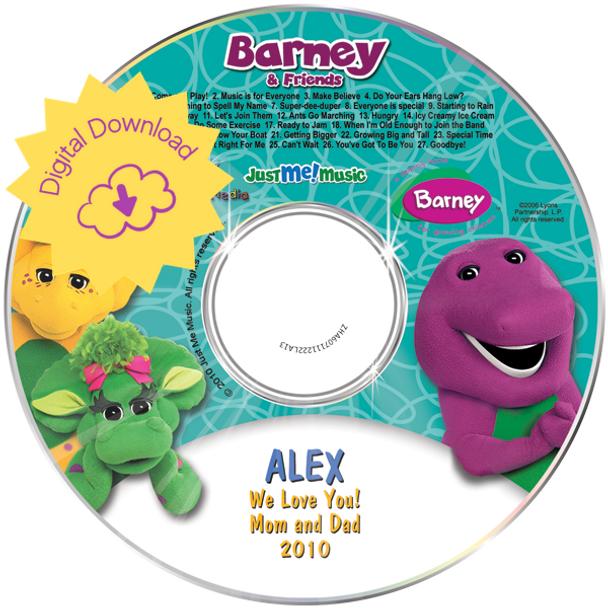 Personalized Kids Digital Download Barney & Friends