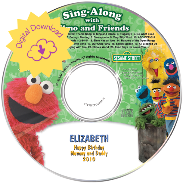 Personalized Kids Digital Download Elmo & Friends