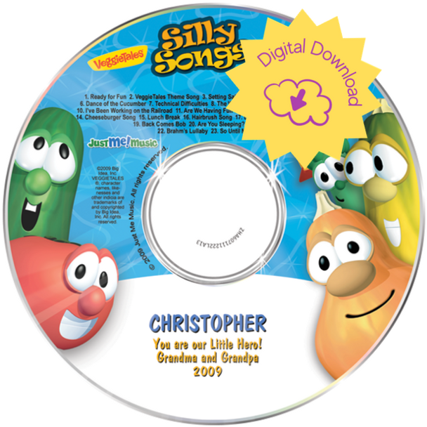 Personalized Kids Digital Download Veggie Tales Silly Songs