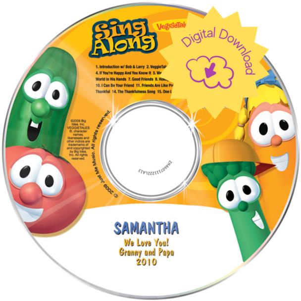 Personalized Kids Digital Download Veggie Tales Sing A Long