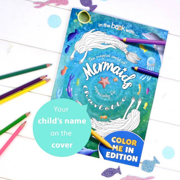 Personalized Mermaid Coloring Book for Kids