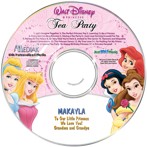 Personalized Music CD Disney Princess
